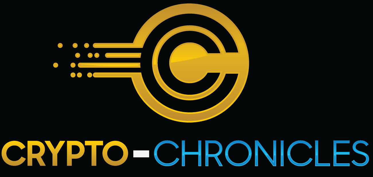 Crypto-Chronicles logo, text and a coin icon